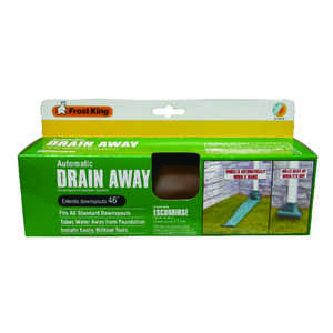 Frost King  Drain Away  4 ft. L x 8-1/2 in. W Downspout Extension  Plastic  Brown
