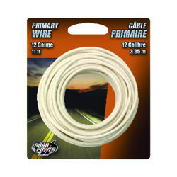 Coleman Cable  11 ft. 12 Ga. Primary Wire  White