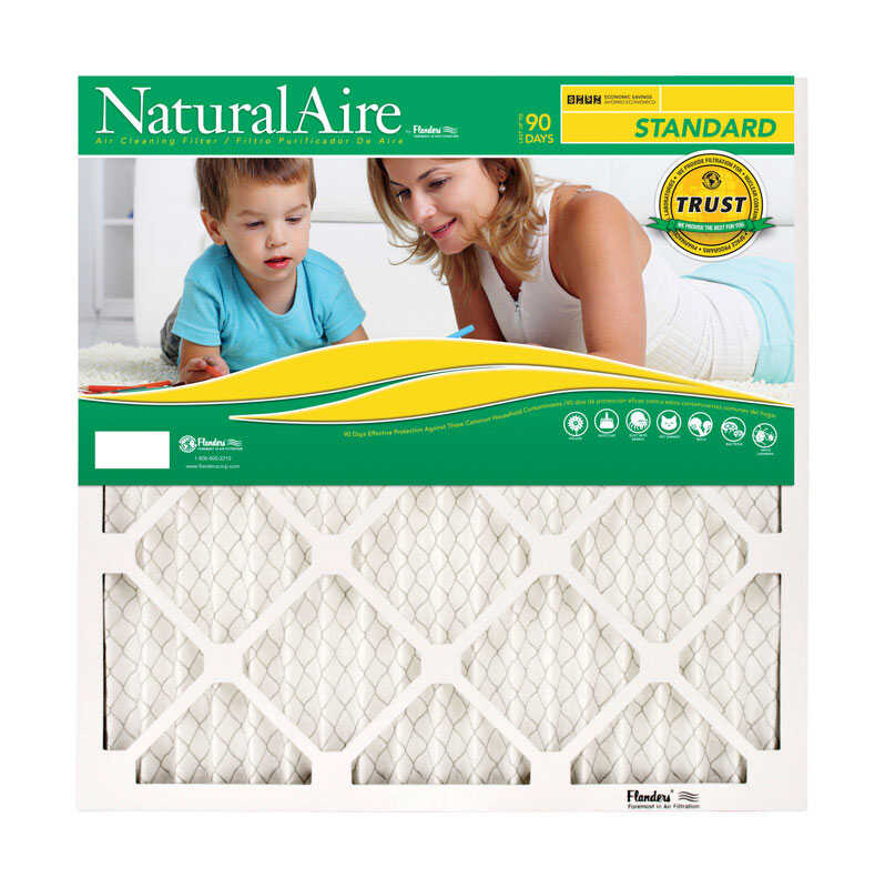 Flanders  NaturalAire  20 in. W x 22 in. H x 1 in. D Pleated  Pleated Air Filter