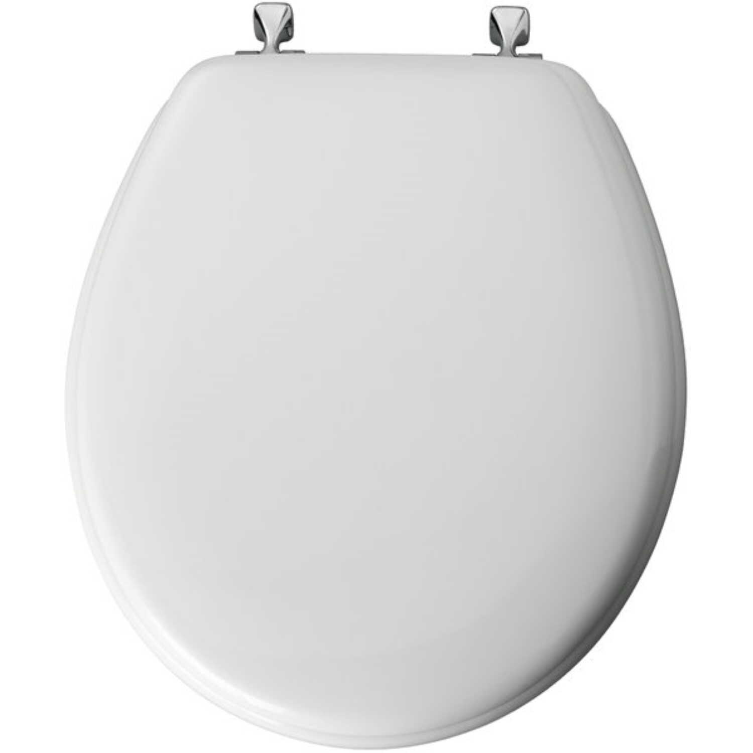 Mayfair Round White Molded Wood Toilet Seat Ace Hardware