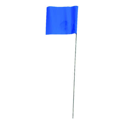 C.H. Hanson  15 in. Blue  Marking Flags  Polyvinyl  10 pk