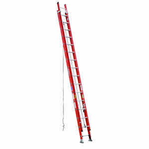 Werner  32 ft. H x 19 in. W Fiberglass  Extension Ladder  Type 1A  300 lb.