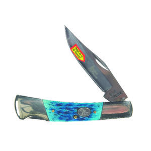 Frost Cutlery  Barracuda  Blue  Stainless Steel  3-1/2 in. Pocket Knife