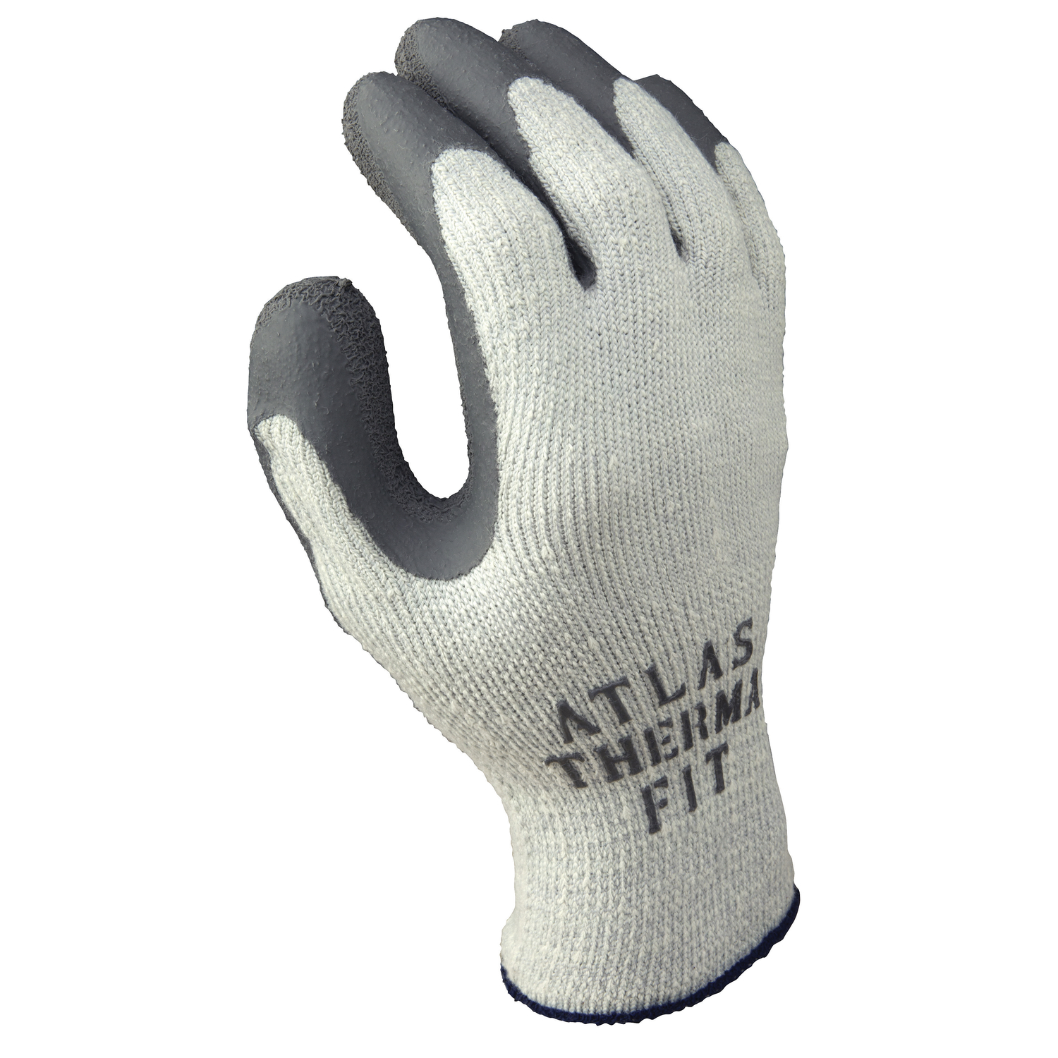 Atlas  Therma Fit  Unisex  Indoor/Outdoor  Rubber Latex  Cold Weather  Work Gloves  XL  Gray