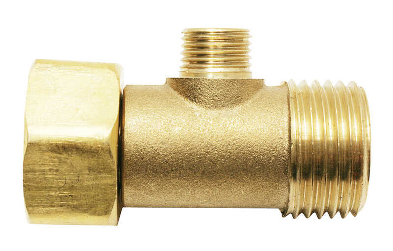 Ace  1/2 in. Female Compression Swivel   x 1/4 in. Dia. Male Compression  Brass  Add A Tee Adapter