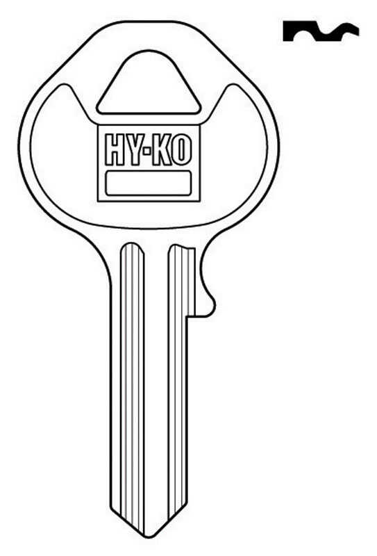 Hy-Ko  Automotive  Key Blank  EZ# M18  Single sided For For Master Lock