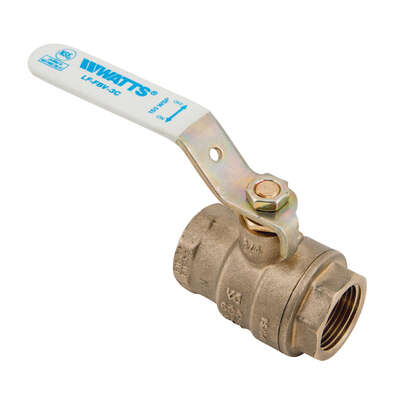 Watts  1-1/4 in. Brass  FIP  Ball Valve  Full Port