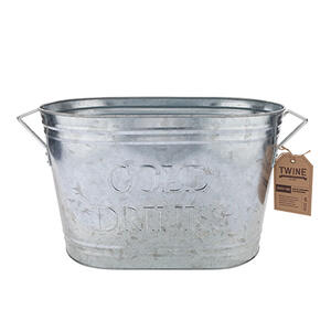 Twine  Country Home  21 oz. Silver  Metal  Ice Bucket