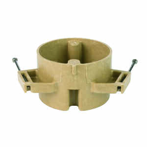 Allied Moulded  Round  1 Gang  1 gang Fiberglass  Tan  Outlet Box  2 in.