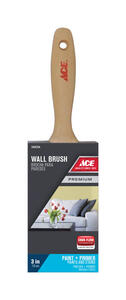 Ace  Premium  3 in. W Medium Stiff  Flat  Paint Brush