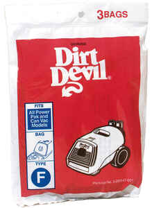 Dirt Devil  Vacuum Bag  For For Canister Vacuums 3 pk