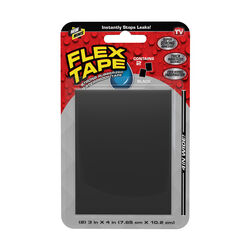 FLEX SEAL Family of Products FLEX TAPE MINI 3 in. W x 4 in. L Black Waterproof Repair Tape