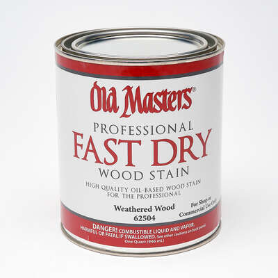 Old Masters Professional Semi-Transparent Weathered Wood Oil-Based Alkyd Fast Dry Wood Stain