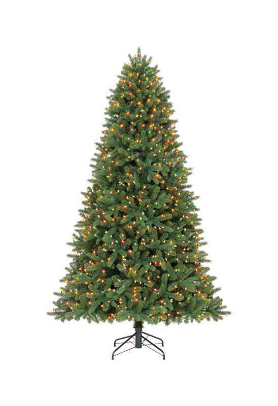 Celebrations Clear Prelit 7-1/2 ft. Grand Fir Artificial Tree 1000 lights  2193 tips - Ace Hardware - Celebrations Clear Prelit 7-1/2 Ft. Grand Fir Artificial Tree 1000
