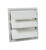 Air Vent  16 in. H x 17.5 in. W x 17.8 in. L White  Plastic  Automatic Gable Shutter