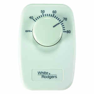 White Rodgers  Heating  Dial  Single Pole Line Voltage Baseboard Thermostat
