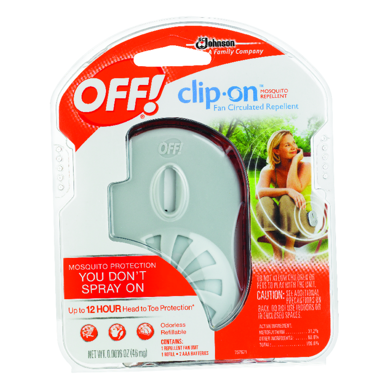 Off Clip On Solid For Mosquitoes 0 Oz Insect Repellent Device