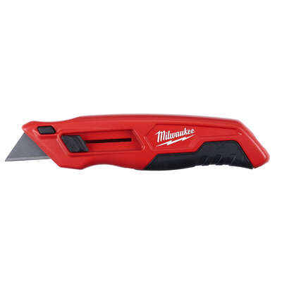 Milwaukee 6.74 in. Sliding Utility Knife Red 1 pc.