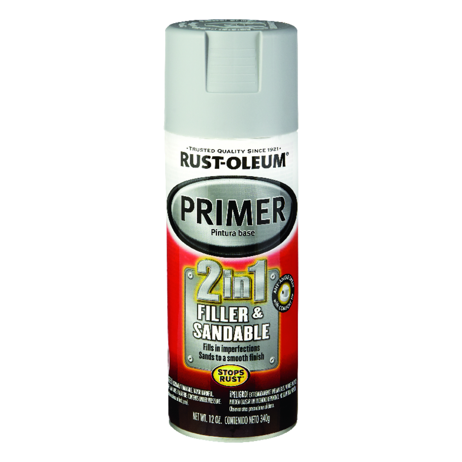 Rust-Oleum  Stops Rust  Gray  Automotive 2-in-1 Filler & Sandable Primer Spray  12 oz.