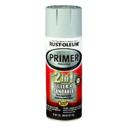 Rust-Oleum  Stops Rust  Flat/Matte  Gray  Automotive 2-in-1 Filler & Sandable Primer Spray  12 oz.