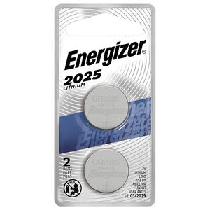 Energizer  Lithium  2025  3 volt Electronic/Watch Battery  2 pk