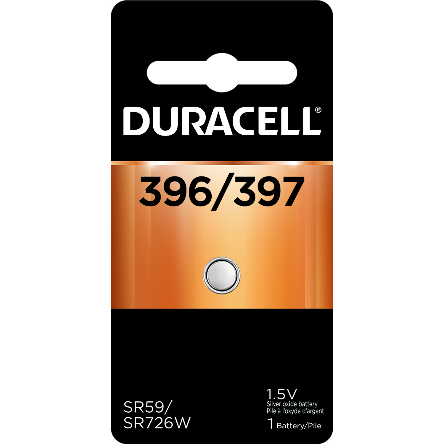 Duracell  396/397  Silver Oxide  Electronic/Watch Battery  1 pk