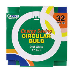Feit Electric  32 watt T9  12 in. Dia. Circline Fluorescent Bulb  Cool White  Circular  4100 K 1 pk