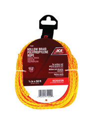 Ace 1/4 in. Dia. x 50 ft. L Gold Braided Poly Rope
