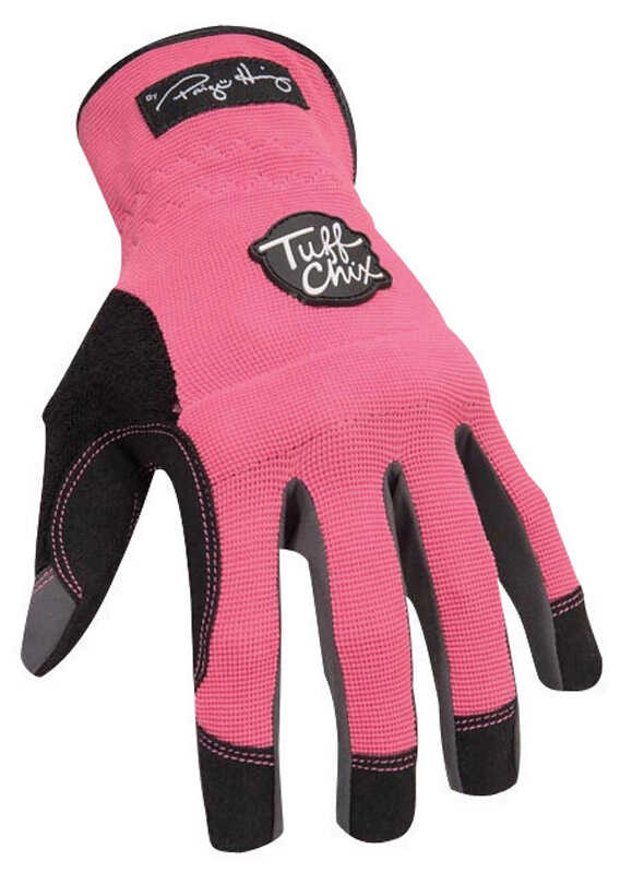 Ironclad  Women's  Indoor/Outdoor  Synthetic Leather  Work  Gloves  L  Pink