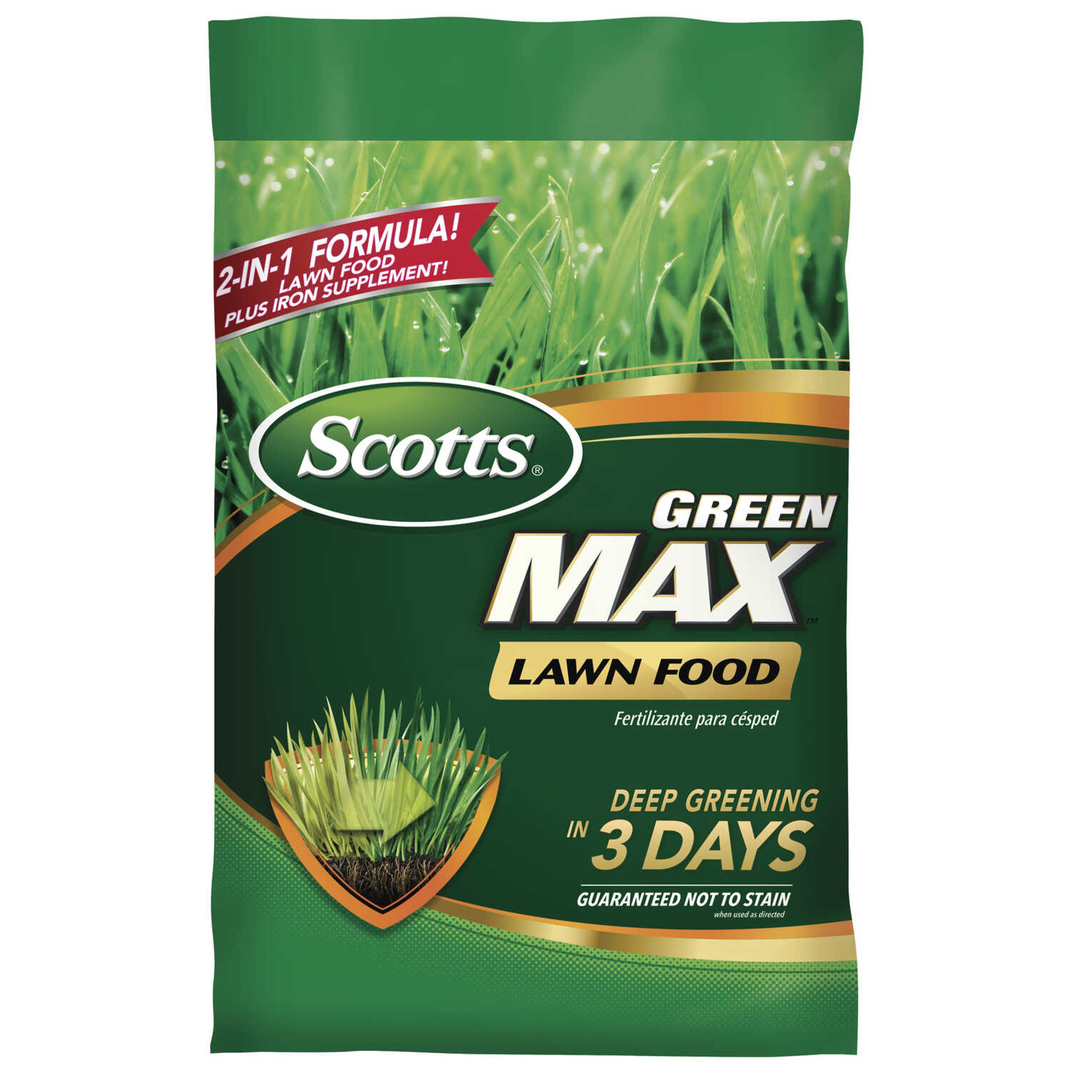 Scotts  Green Max  27-0-2  Lawn Food  For All Grass Types 16.9 lb. 5000 sq. ft.