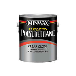 Minwax  Gloss  Clear  Fast-Drying Polyurethane  1 gal.