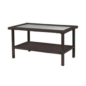 Living Accents  Rectangular  Brown  Glass  Prescott  Coffee Table