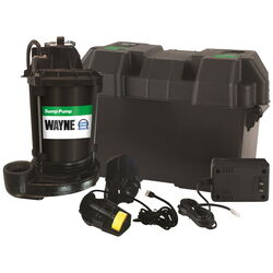 Wayne  1/2 hp 2,500 gph Cast Iron  Vertical Float Switch  Battery  Submersible Backup Sump Pump