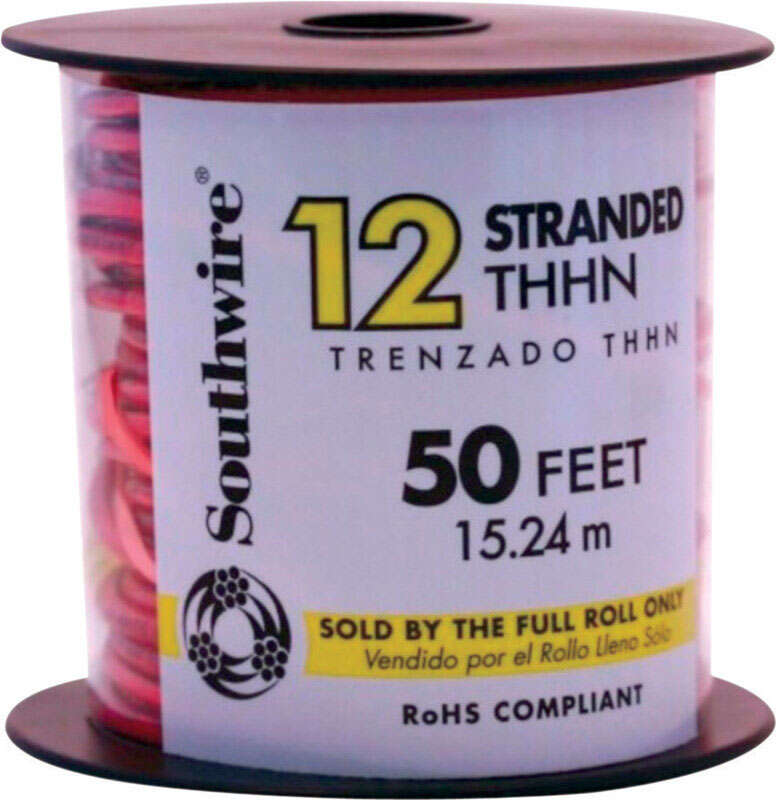 Southwire  50 ft. 12/1  Stranded  Building Wire  THHN