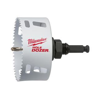 Milwaukee  Hole Dozer  5 in. Dia. x 1-7/8 in. L Bi-Metal  Hole Saw  1/4 in. 1 pc.