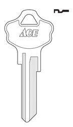 Ace  House  Key Blank  Single sided For Kwikset Locks