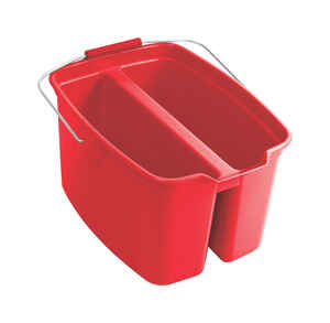 Rubbermaid Commercial  19 qt. Rectangular Double Pail  Red