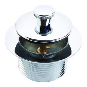 Ace  Lift N Turn  1-1/2 in. Polished  Metal  Tub Drain Stopper