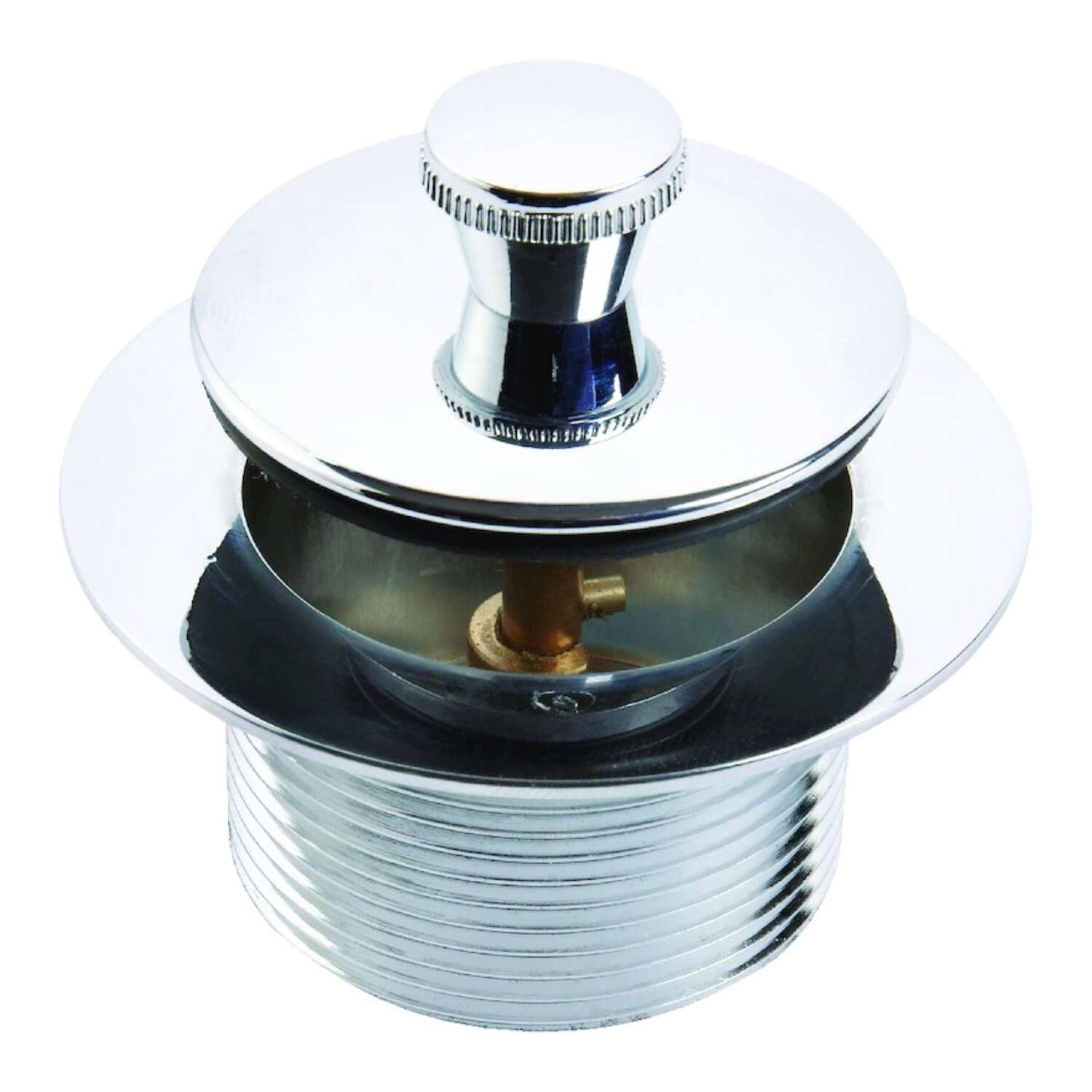 Ace  1-1/2 in. Dia. Polished  Metal  Drain Assembly