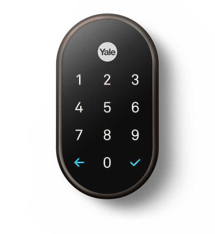 Nest  Yale  Oil Rubbed Bronze  Metal  Touch Screen Deadbolt
