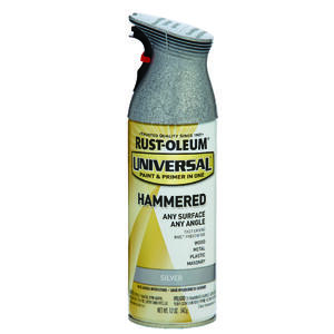Rust-Oleum  Universal  Hammered  Silver  Spray Paint  12 oz.
