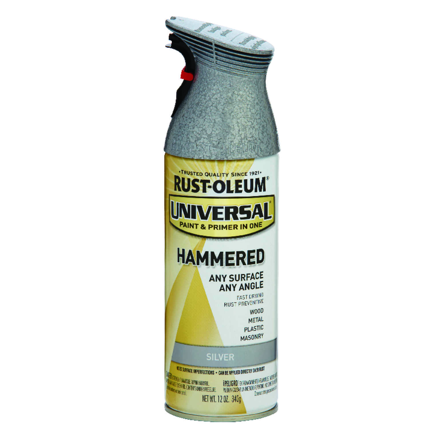 Rust-Oleum  Universal  Hammered  Spray Paint  Silver  12 oz.