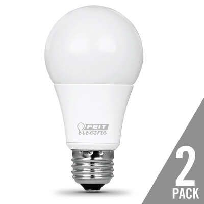 Feit Electric A19 E26 (Medium) LED Bulb Bright White 60 Watt Equivalence 2 pk