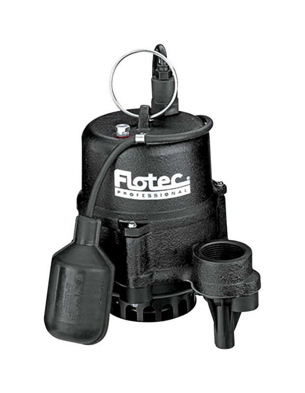 Flotec  Professional Series  1/3 hp 3360 gpm Cast Iron  Submersible Sewage Pump