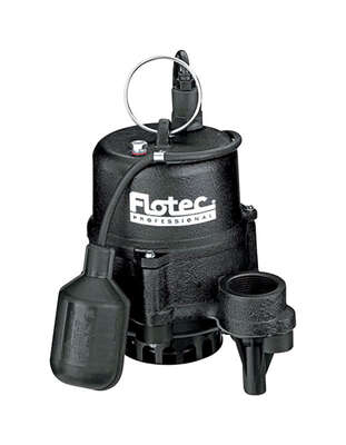 Flotec  Professional  1/3 hp 3360 gph Cast Iron  Tethered Float  Sewage Pump