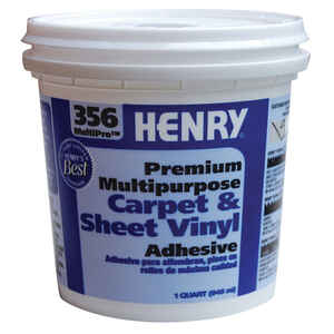 Henry  356 MultiPro Premium Multipurpose  High Strength  Paste  Carpet & Sheet Vinyl Adhesive  1 qt.