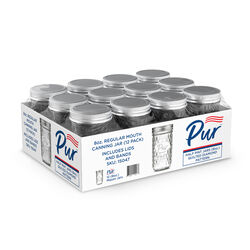 PurMason Regular Mouth Diamond Mason Jar 8 oz. 12 pk