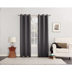 Sun Zero  Norwich  Gray  Blackout Curtains  80 in. W x 84 in. L