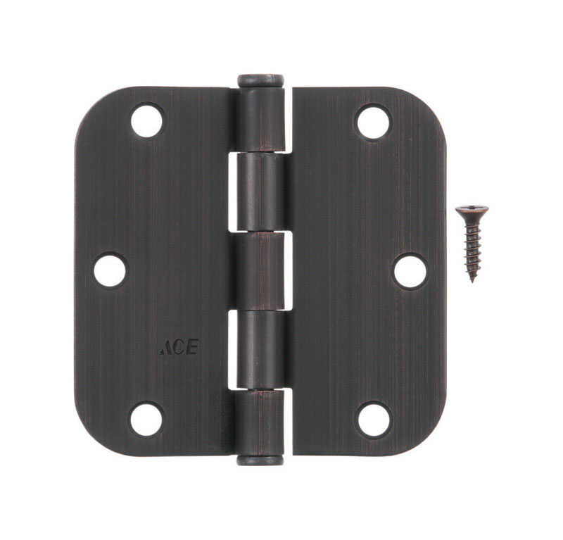 Ace  3-1/2 in. L Oil Rubbed Bronze  Steel  Residential Door Hinge  1 pk