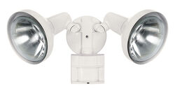 Heath Zenith  Motion-Sensing  Hardwired  Incandescent  White  Floodlight